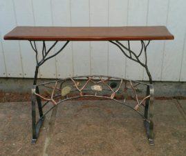 Table- CREEK SIDE 2016  Wood, Copper, Steel, Stone H-36in W-48in D-16in