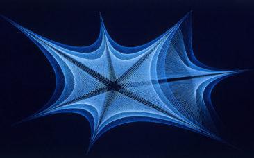 Blue Star- 1967-Silk Thread -Phill Evans-Sembach, Germany