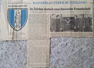 German Newspaper -German American Friendship Sculpture-1968 Phill Evans