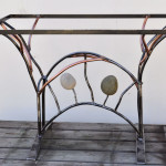 Sculptural Table-COPPER STONE ARCH 2010