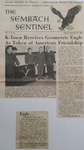 Sembach AFB Newspaper-German American Friendship Sculpture 1968-Phill Evans